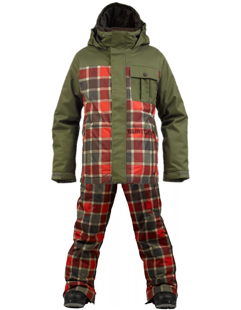 Костюм детский Burton Sludge Keef/Keef Revolt Plaid/Cyclops Kid's Keef Revolt Plaid (XL)