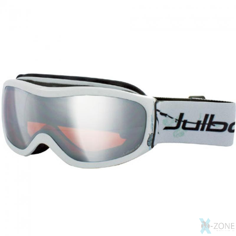 Маска лыжная женская Julbo Cassiopee White Sperical Orange Screen Silver Flash